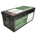 Халуун борлуулалт 2.56KWh lifepo4 batteri 12v 200Ah 6000 цикл rv зай
