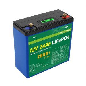 Нарны гүн мөчлөг 24v 48v 24ah Lifepo4 зайны багц UPS 12v 24ah зай