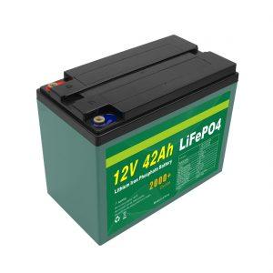 Засвар үйлчилгээ Нарны тохируулалттай нарны 12v 40ah 42ah Lifepo4 эсийн Lifepo4 батерейны багц